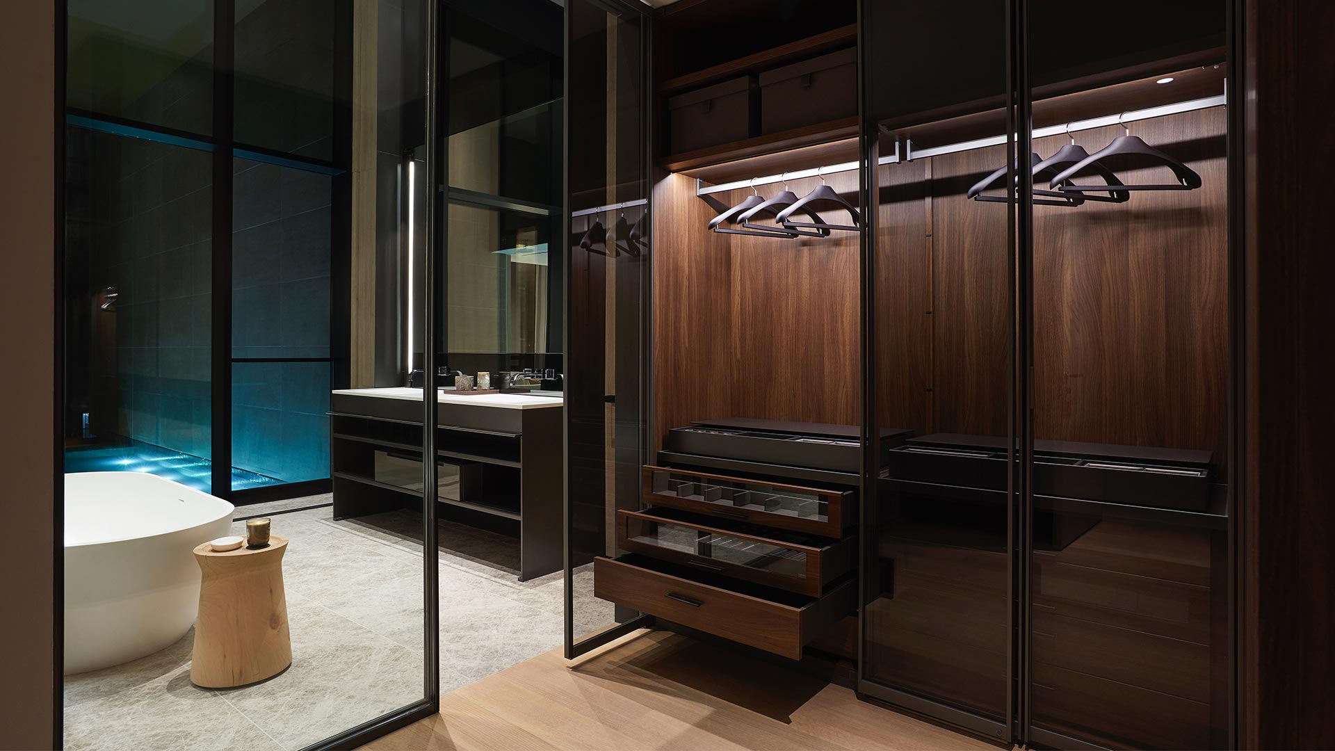 SCDA custom-designed walk-in closets