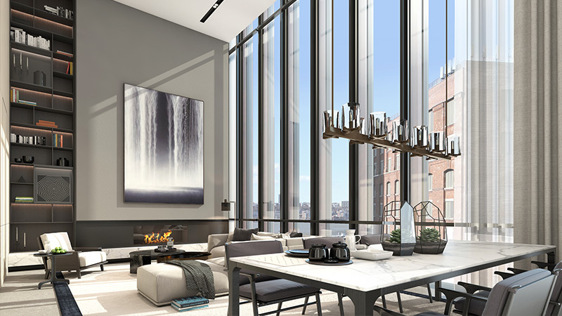 Soori High Line - Type E Unit - Living and Dining areas